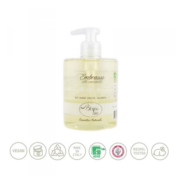 Bio bagno doccia alla camomilla – calmante per pelli delicate 500 ml