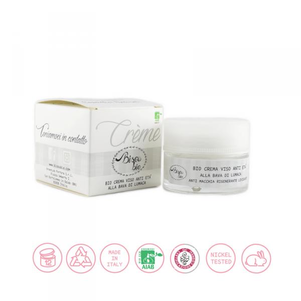 Bio crema viso anti età alla bava di lumaca 50 ml